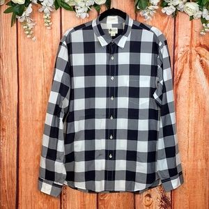 J. Crew Tailored Shirtlings Button Up Plaid Shirt